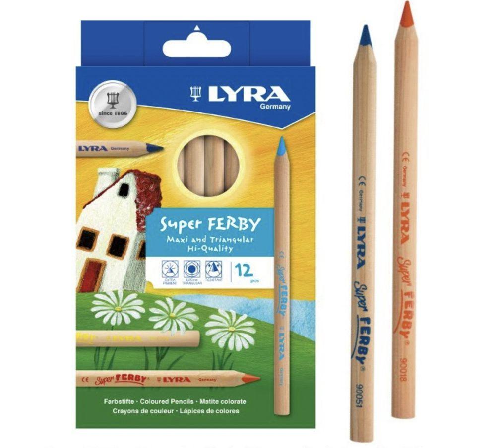 德國LYRA - 三角原木彩色鉛筆17.5cm(12色)-3歲以上