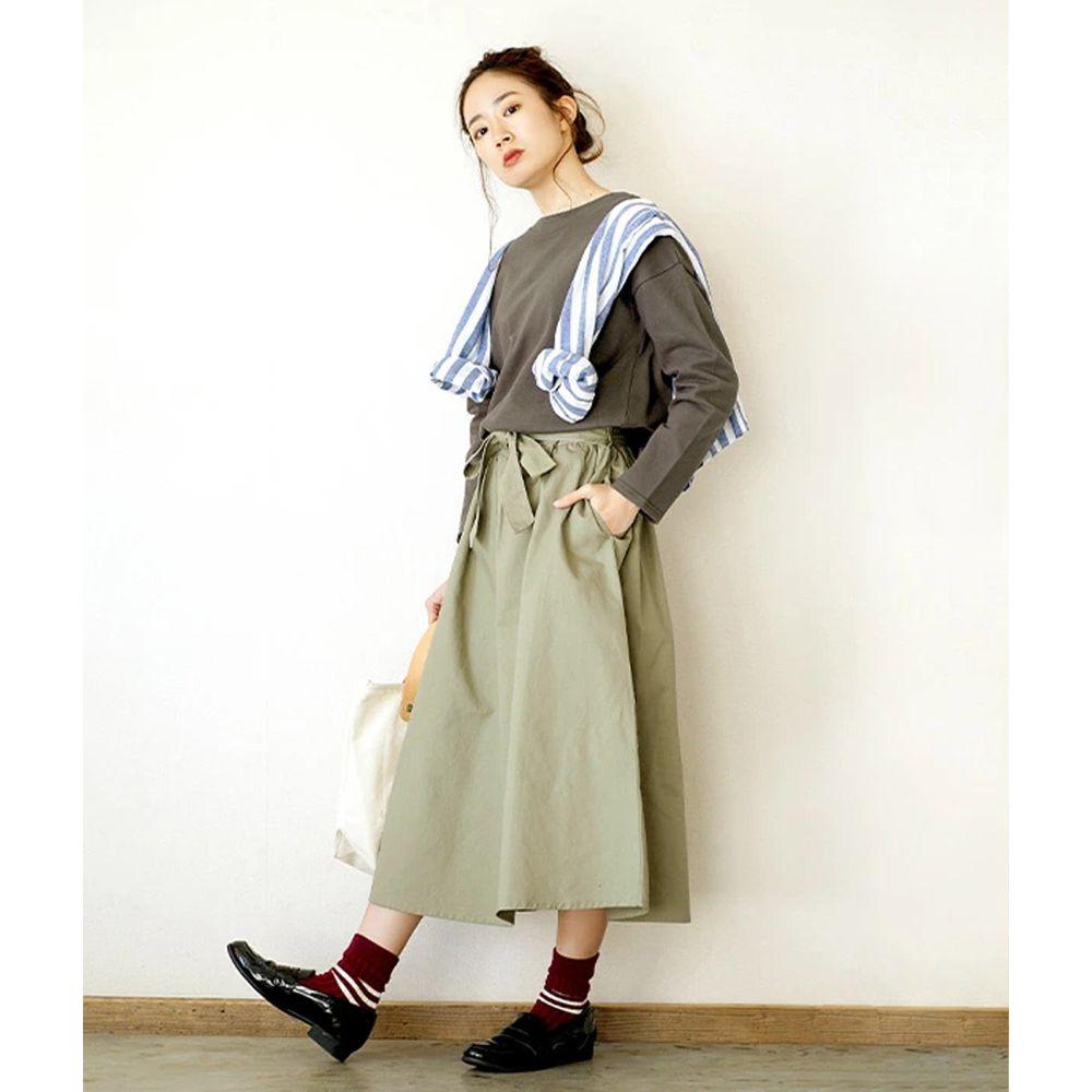 日本 zootie - 假兩件知性拼接洋裝-墨綠 (M)