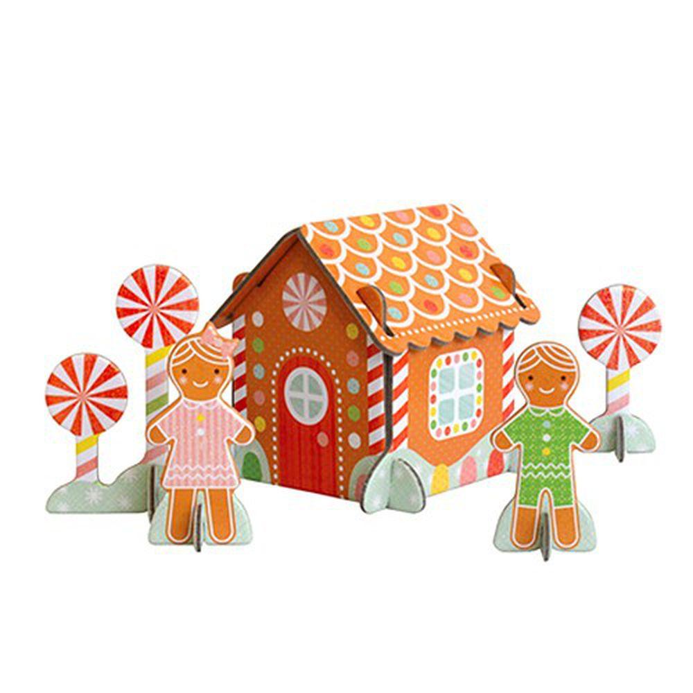 美國 Petit Collage - [冬季限定]立體組裝拼圖-薑餅屋