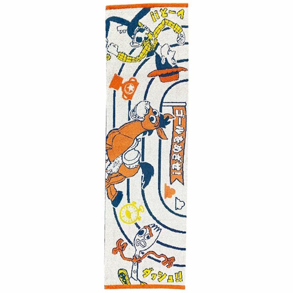 日本代購 - 卡通長型運動毛巾-玩具總動員接力賽 (34x100cm)
