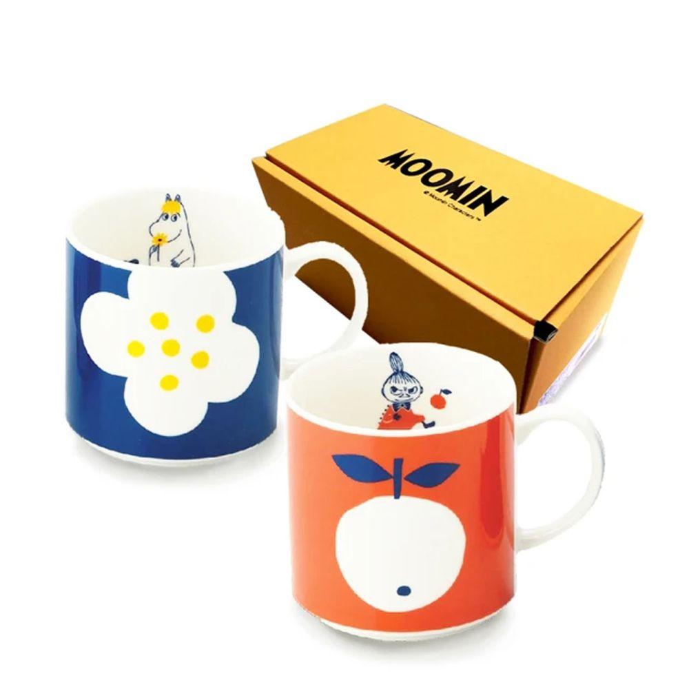 日本山加 yamaka - moomin 嚕嚕米彩繪陶瓷馬克杯禮盒-MM0324-13-2入組
