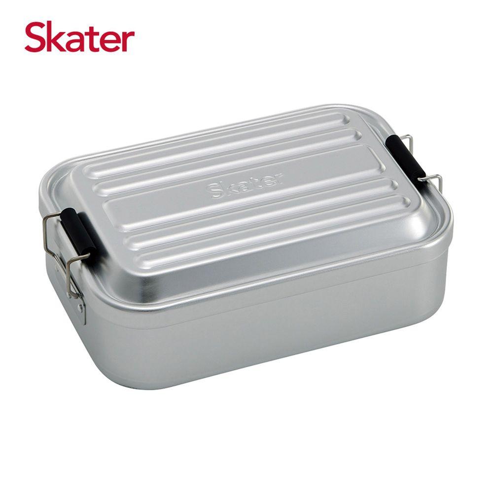 日本 SKATER - 行李箱便當盒-銀