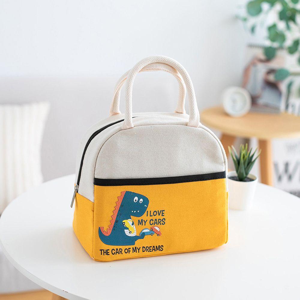 卡通手提保溫午餐包便當袋-黃色 (23*20*14cm)