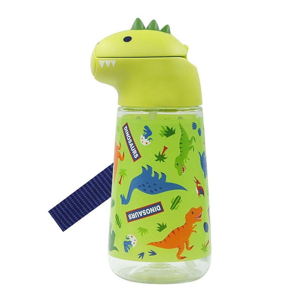日本 SKATER - 恐龍吸管水壺(420ml)-綠色