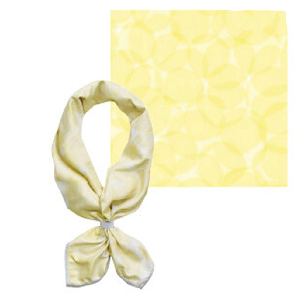 日本現代百貨 - 抗UV水涼感方巾/領巾(附收納罐)-水玉/條紋-黃 (54x54cm)