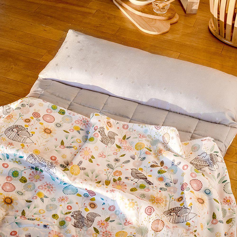 韓國 Formongde - 莫代爾5cm厚墊雙面用睡袋/寢具(附收納袋)-春暖花開