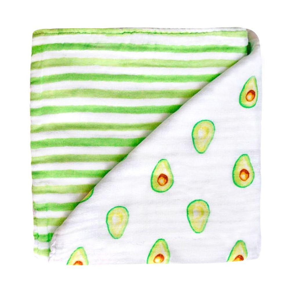 美國 Malabar baby - 有機棉被毯(四層紗)-活力酪梨 (120*120cm)