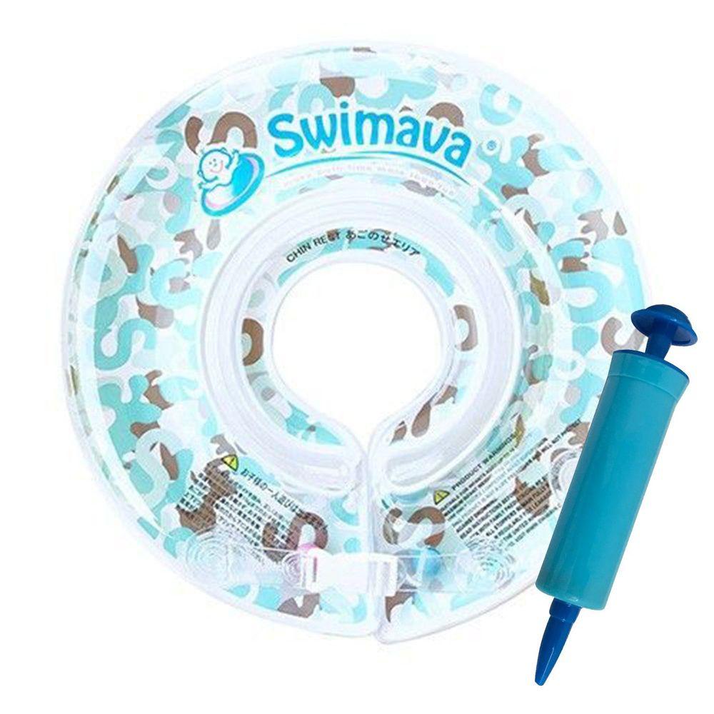 Swimava - G1嬰兒游泳脖圈-淺藍迷彩 (1-18個月,13kg以內)