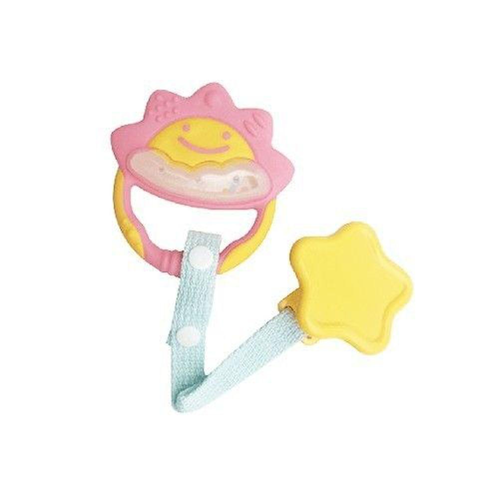日本 Richell 利其爾 - 固齒器-附固定夾-粉紅色