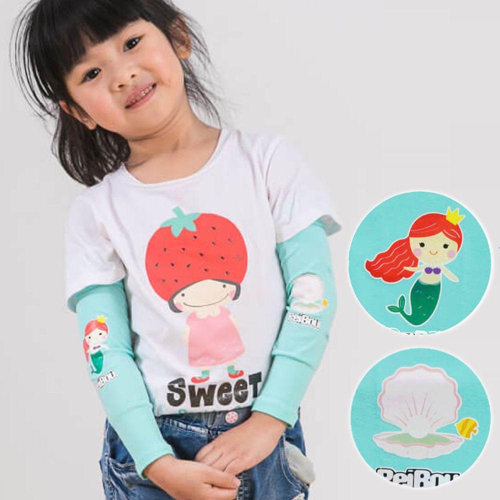 貝柔 Peilou - 兒童高效涼感防蚊抗UV袖套-美人魚