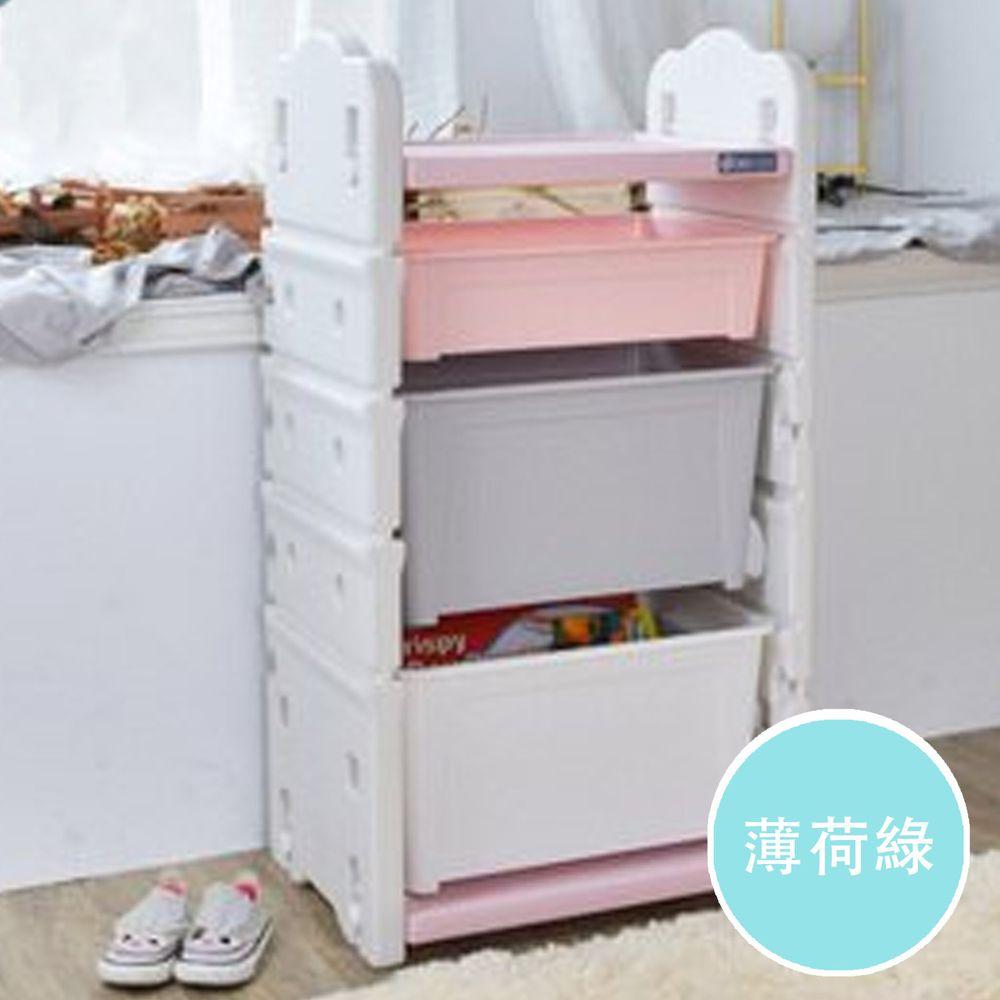 家窩 - 伊格玩具直取收納櫃(2大1小收納箱)-DIY-薄荷綠