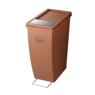雙用造型垃圾桶-橘紅色-21L