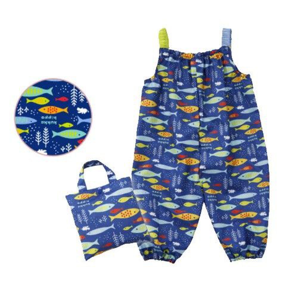 日本 kukka hippo - 小童遊戲服/玩沙衣(附收納袋)-海洋世界 (90cm)