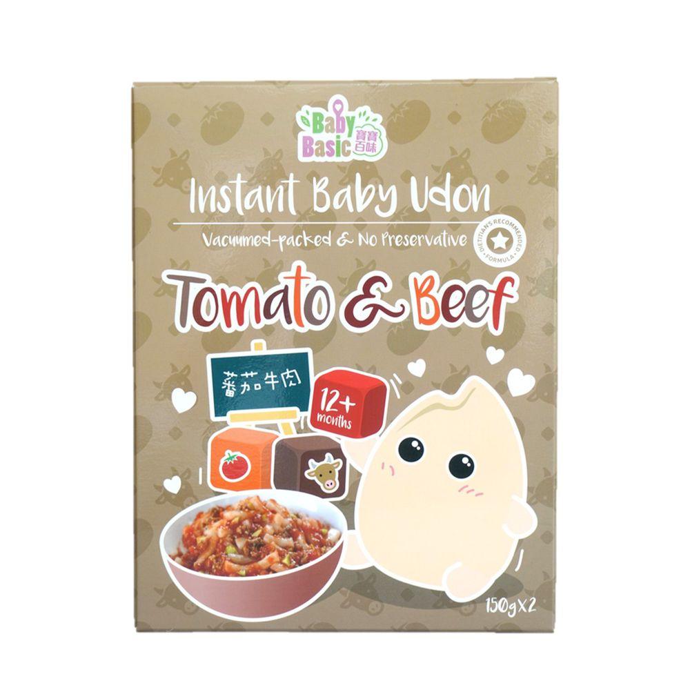 香港寶寶百味 - 即食BB烏冬麵 (烏龍麵一盒2入) (12+)-蕃茄牛肉-150g/入