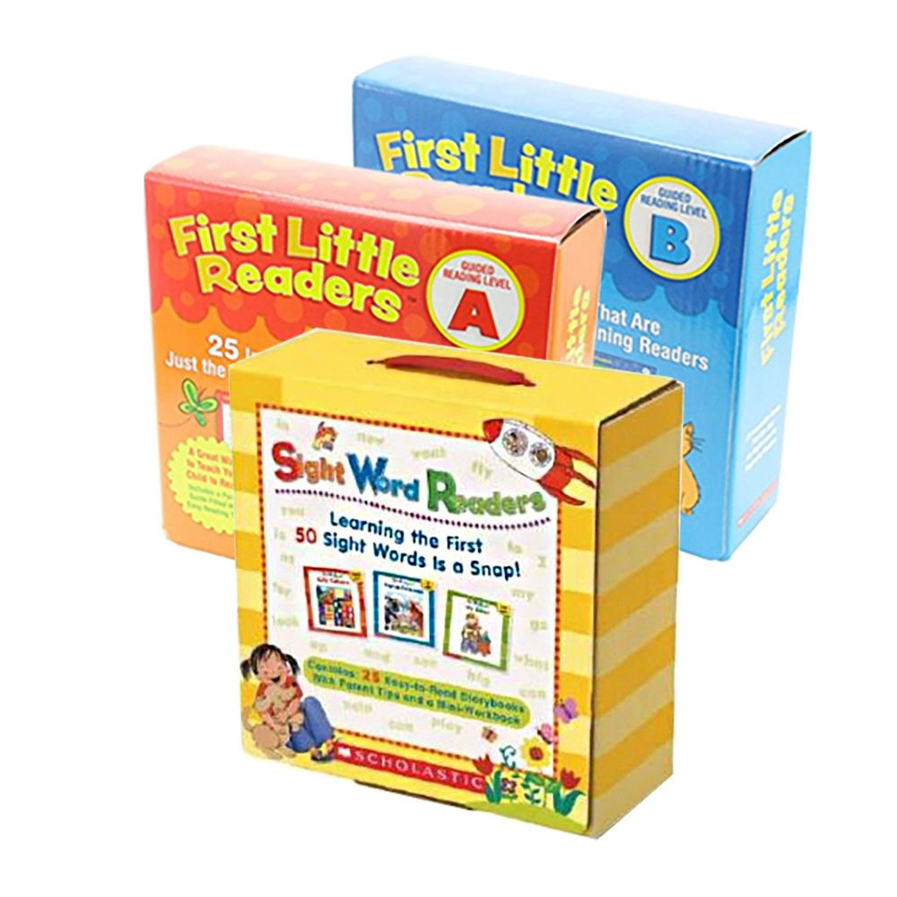 Scholastic - 【超值合購】我的第一套小小閱讀文庫First Little Readers Level A+B+Sight Word Readers Boxed Set-三盒