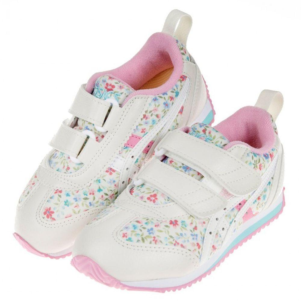 asics 亞瑟士 - 碎花粉小藍花寶寶機能學步鞋
