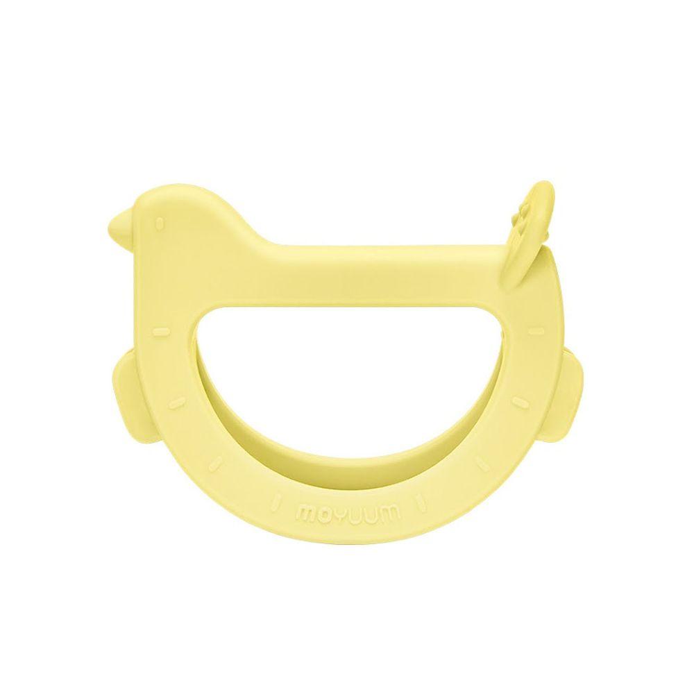 韓國 Moyuum - 白金矽膠手環固齒器-咘咕鳥-檸檬黃