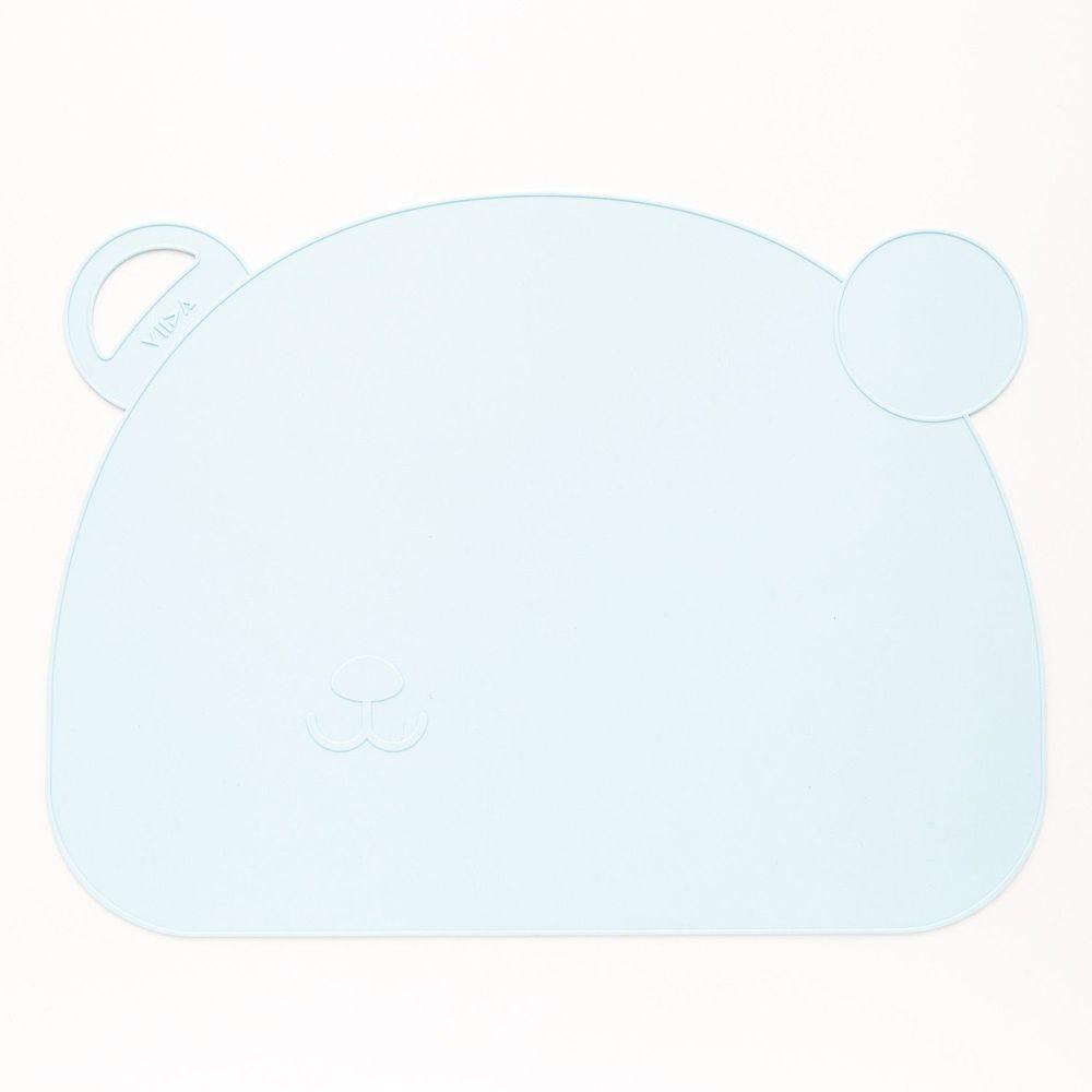 VIIDA - Joy 防滑矽膠餐墊-熊-藍