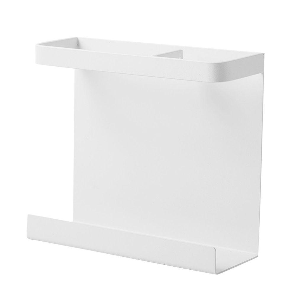 磁吸式冰箱側壁單層收納置物架-白色