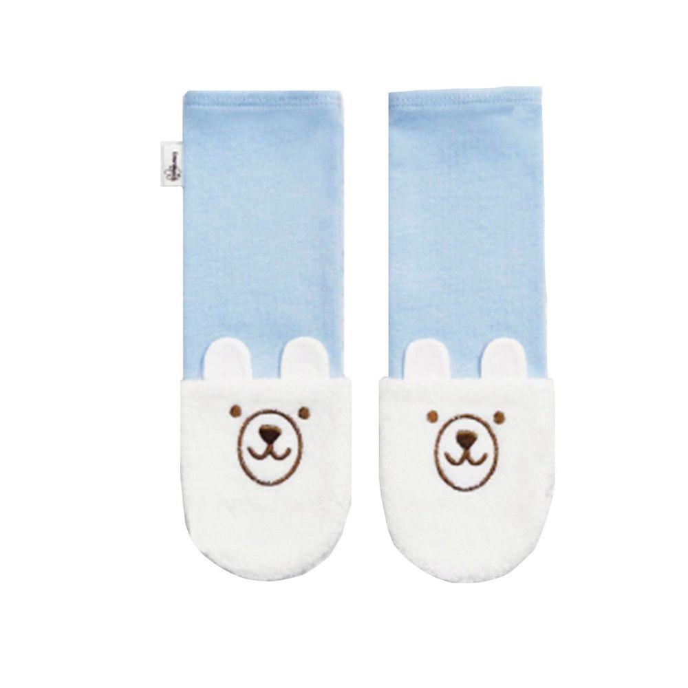 Edenswear 伊登詩 - 鋅健康嬰兒防抓臉造型袖套手襪-淺藍 (FREE)