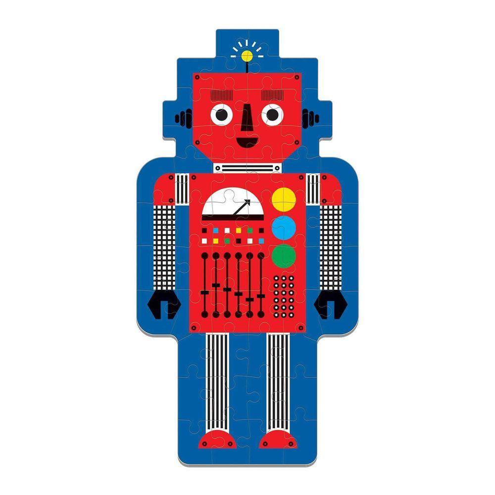 美國 mudpuppy - 造型人物拼圖-機器人-50片