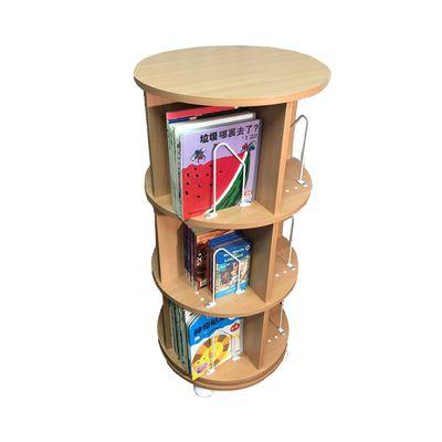 360° 旋轉書櫃-三層式-淺木紋-支架12入+水平儀4入
