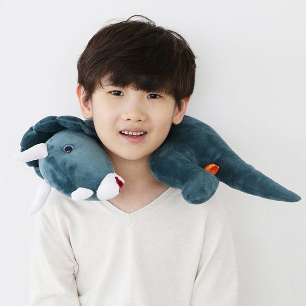 韓國PROM - 恐龍造型枕-藍色三角龍 (36*34CM)
