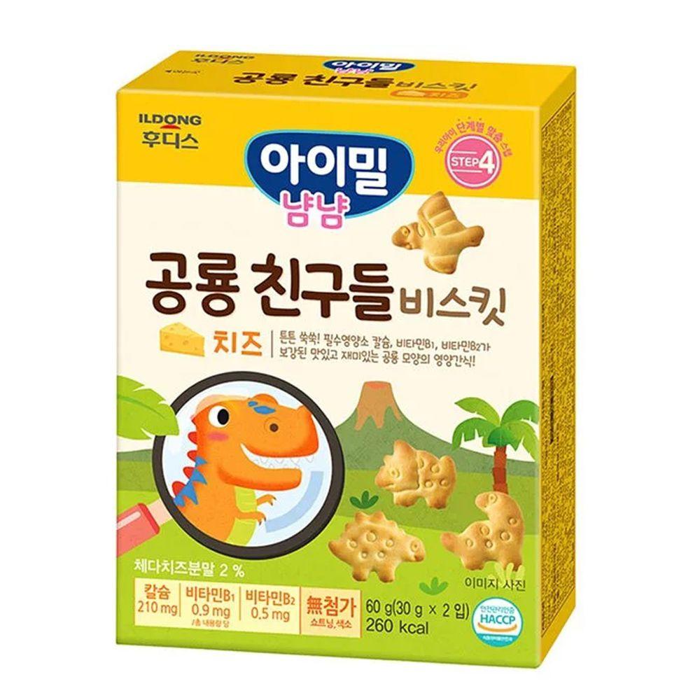 韓國Ildong Foodis日東 - 起司恐龍造型餅乾