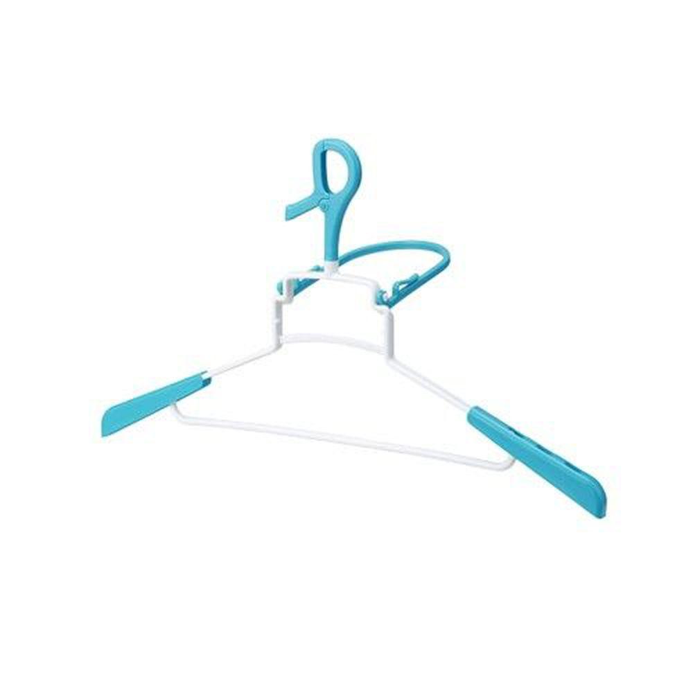 日本 LEC - 輕鬆曬衣-立體速乾連帽衣物專用衣架-1入