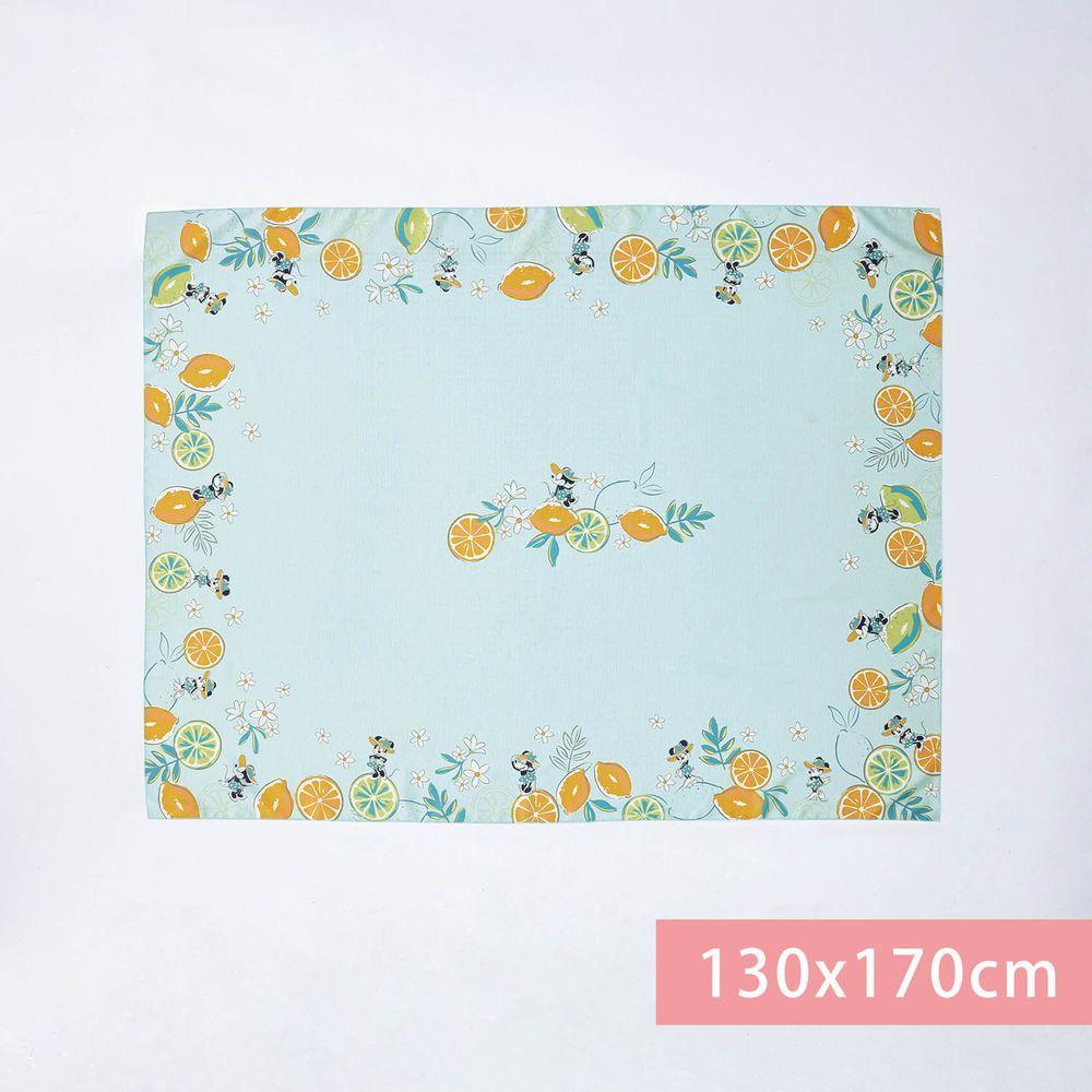 日本千趣會 - 迪士尼防潑水印花桌巾-米妮夏日渡假-水藍 (130x170cm(+NT$400))