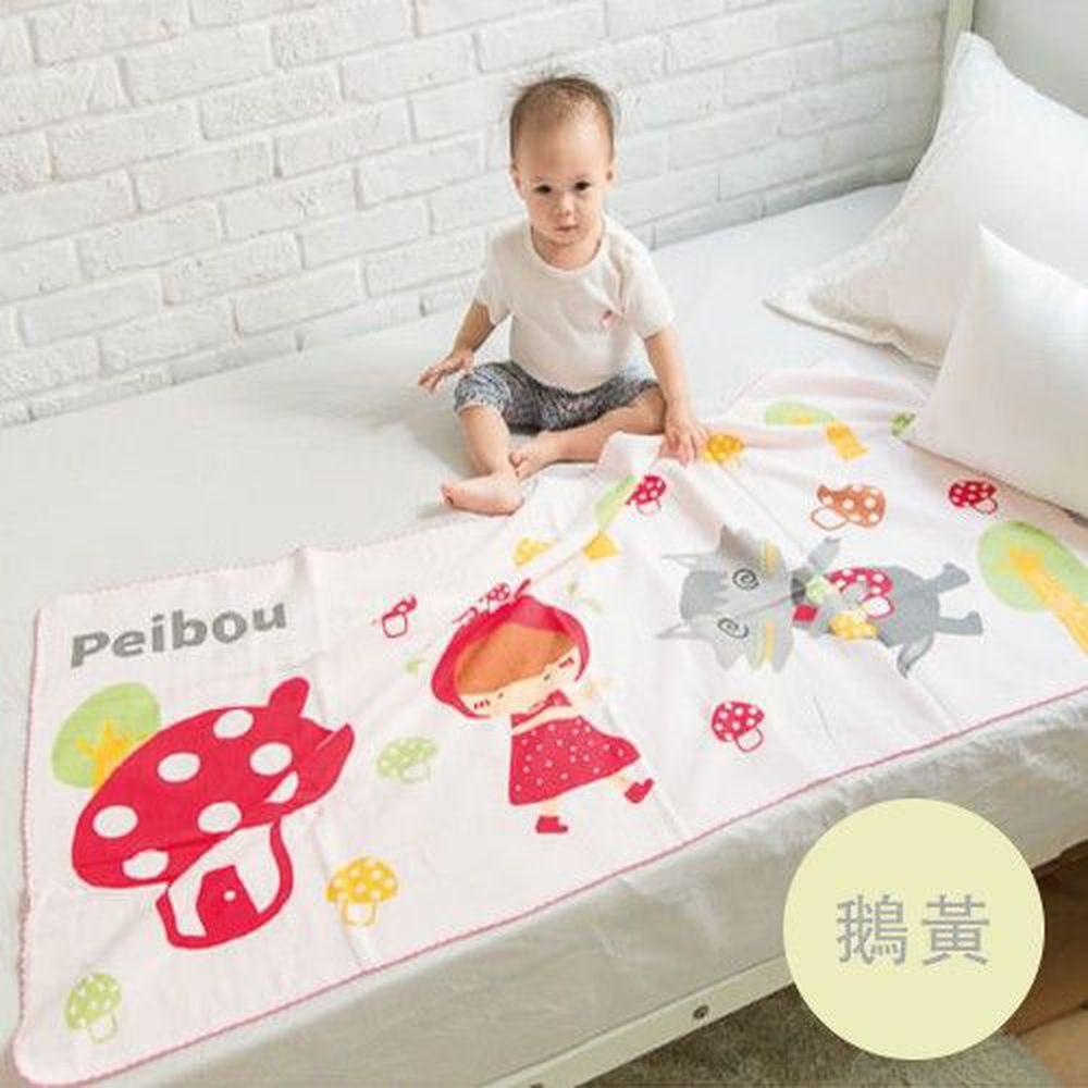 貝柔 Peilou - 童話抗菌紗布浴巾-小紅帽-鵝黃 (70x140cn)