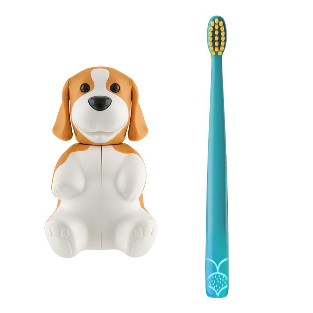 Flipper - 專利輕觸開關牙刷架(COMBO PACK)-趣味動物-米格魯