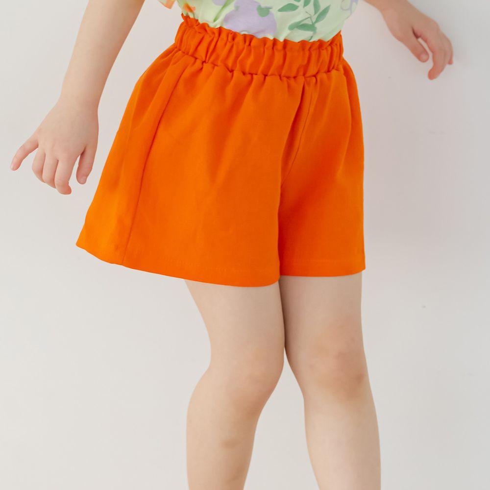 韓國 Orange Mom - 鬆緊褲頭舒適小短褲-橘