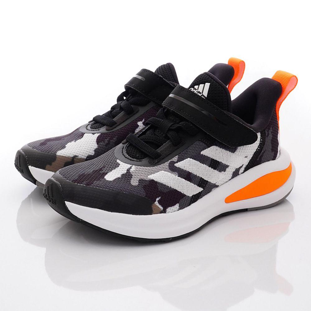 adidas - 運動童鞋-迷彩輕量運動鞋款(中小童段)-黑橘
