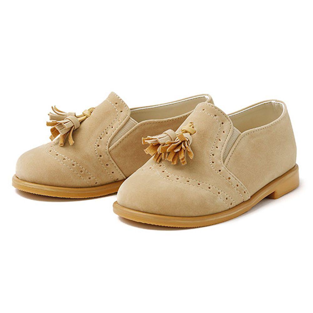 韓國 OZKIZ - 流蘇麂皮休閒鞋