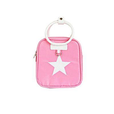星星保溫保冷兒童包-螢光粉紅