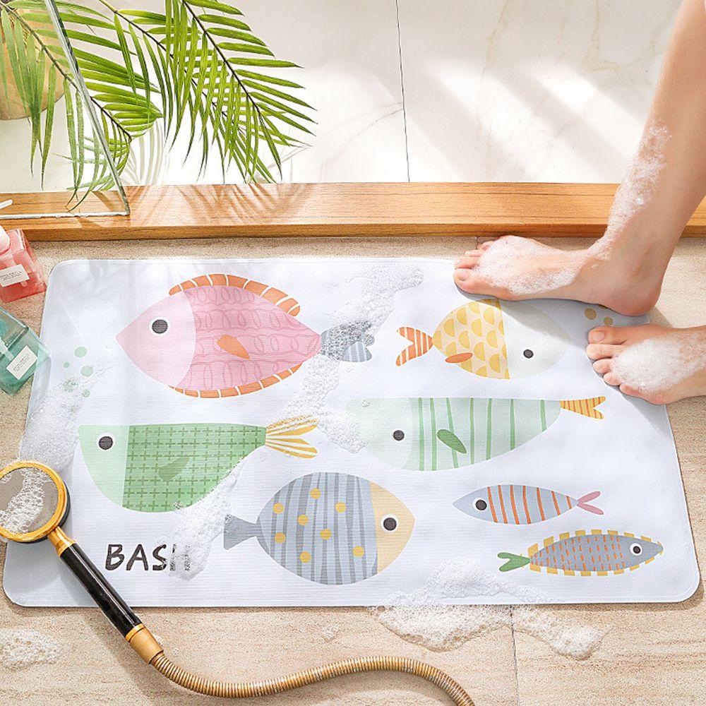 浴室超強吸力止滑腳踏墊-小魚 (40x70cm)