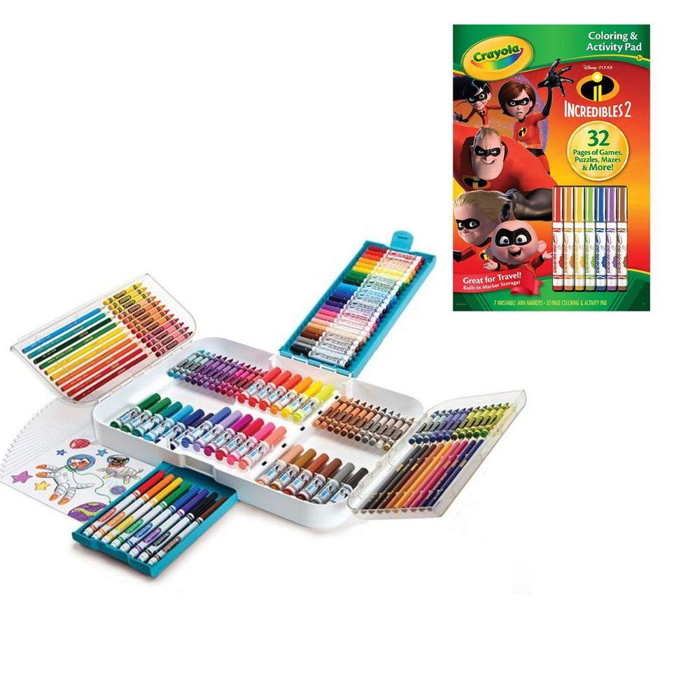 Crayola繪兒樂 - 【超值優惠組】彩色創造力超值組+著色套裝-超人特攻隊2