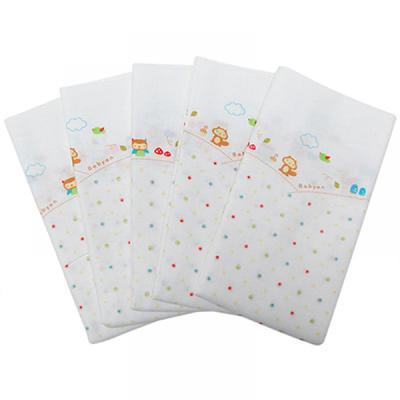 100%純棉澡巾(5入)-松鼠點點 (90x110cm)