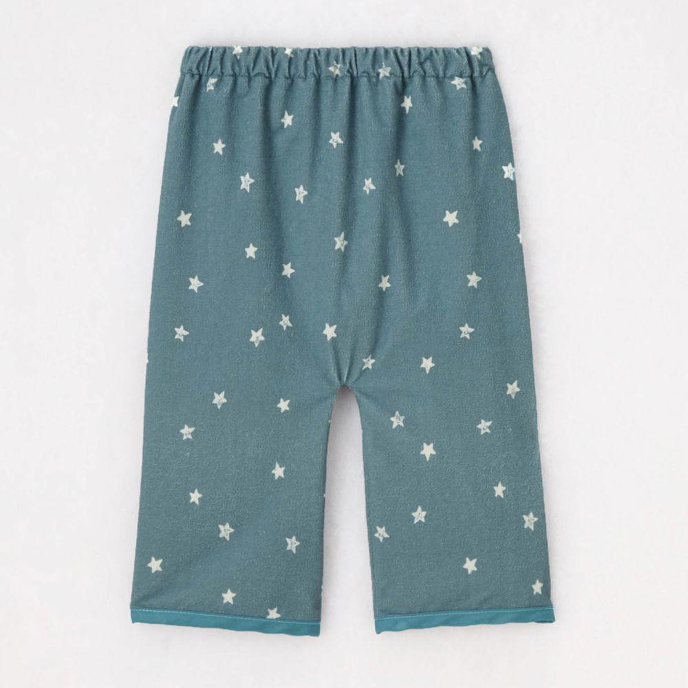 日本千趣會 - 防尿床防水隔尿睡褲-滿版星星-灰藍