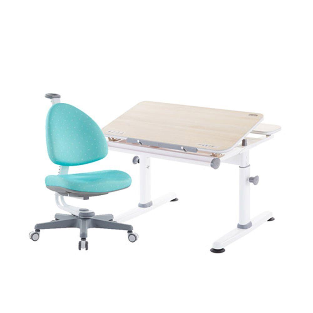 大將作 kid2youth - M2 Plus-XXS成長桌椅組(含BABO椅)/兒童書桌椅-湖水綠 (桌面尺寸寬80x長70cm)