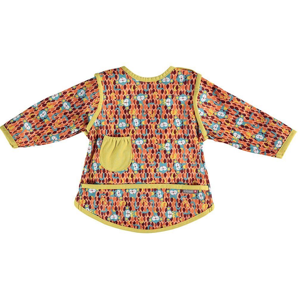 英國 Close - Pop-in 嬰兒多功能圍兜/畫畫衣-提奇猴 (6-18m)