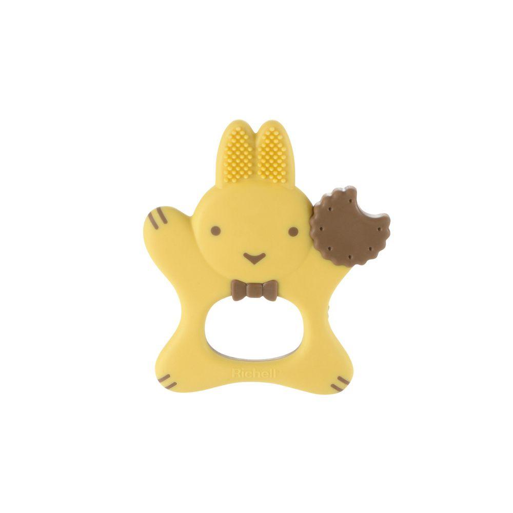 日本 Richell 利其爾 - 輔助型乳牙刷_3M-3m適用-黃