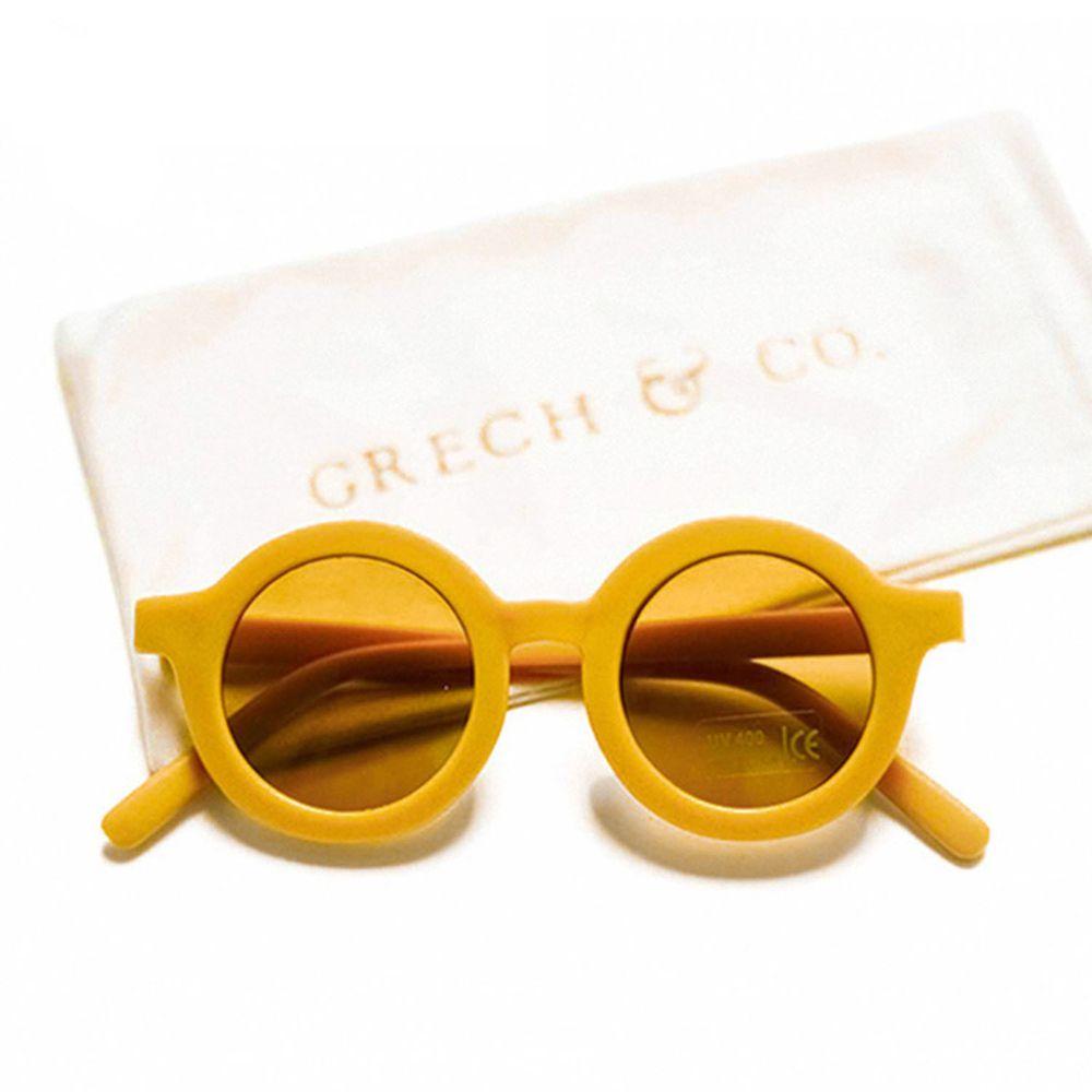 丹麥GRECH&CO - 兒童太陽眼鏡-經典款-杏黃-18個月至6歲