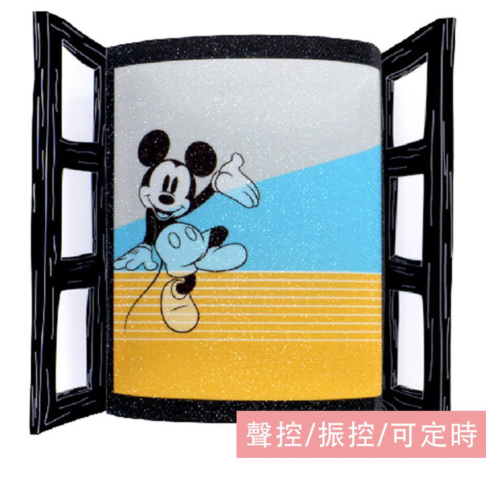 日本 TOYO CASE - LED 夜燈壁飾-迪士尼窗戶系列-米奇 (約8x3x11cm)