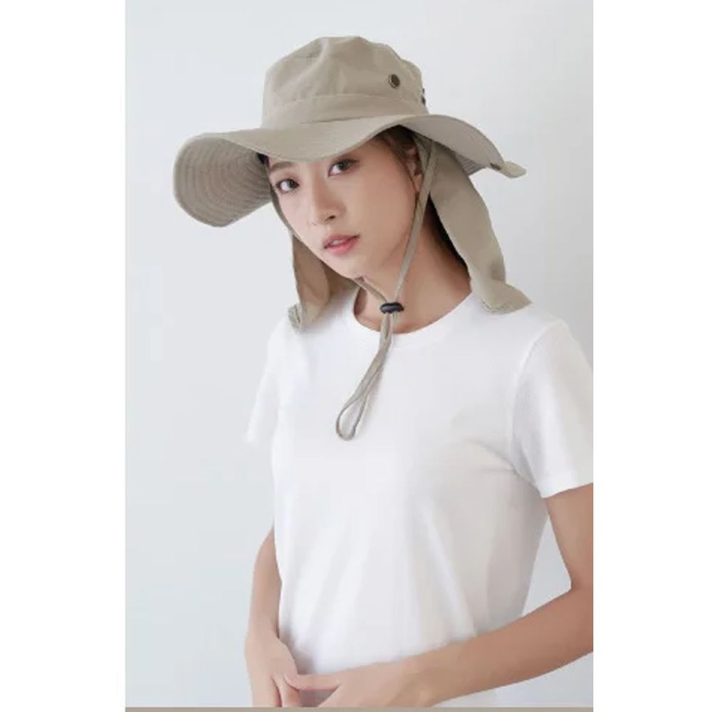 貝柔 Peilou - UPF50+多功能休閒遮陽帽-卡其色 (頭圍: 58cm)