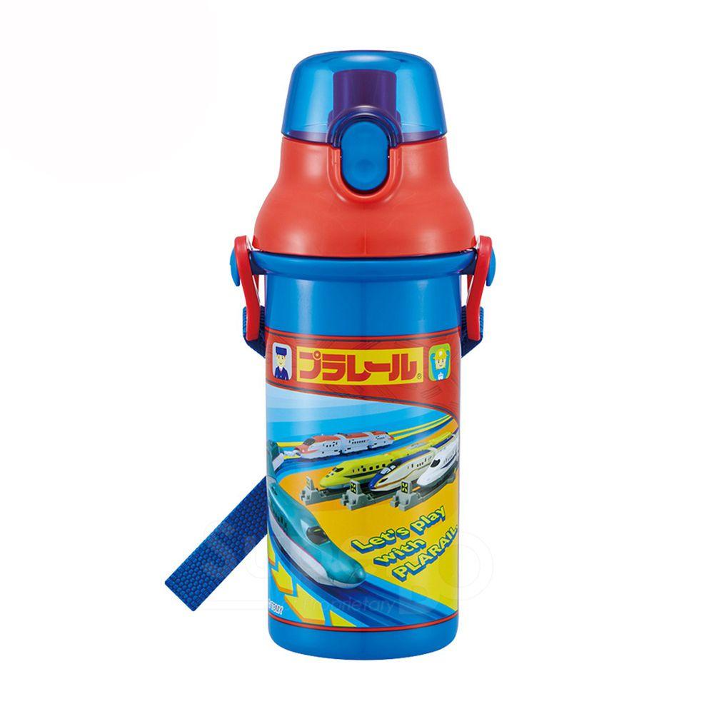 日本 SKATER - 兒童直飲冷水壺 (480ml)-鐵道王國-藍紅