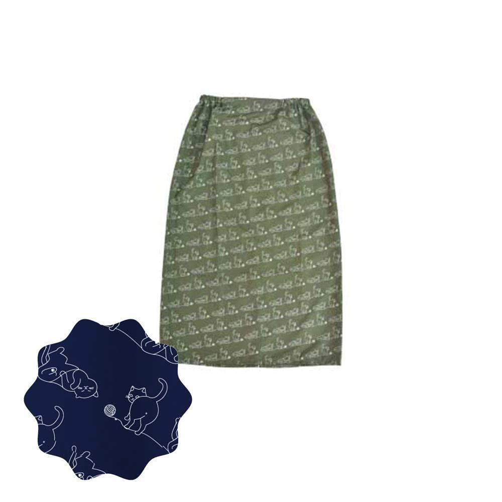 貝柔 Peilou - 貝柔貓日記防風防潑水遮陽裙-玩耍-軍綠