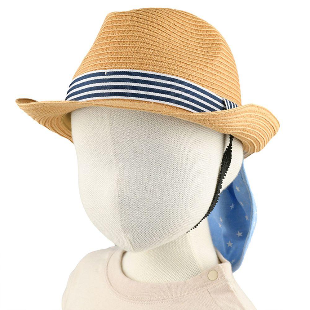 akachan honpo - 遮陽紳士帽 可洗可折疊-咖啡色