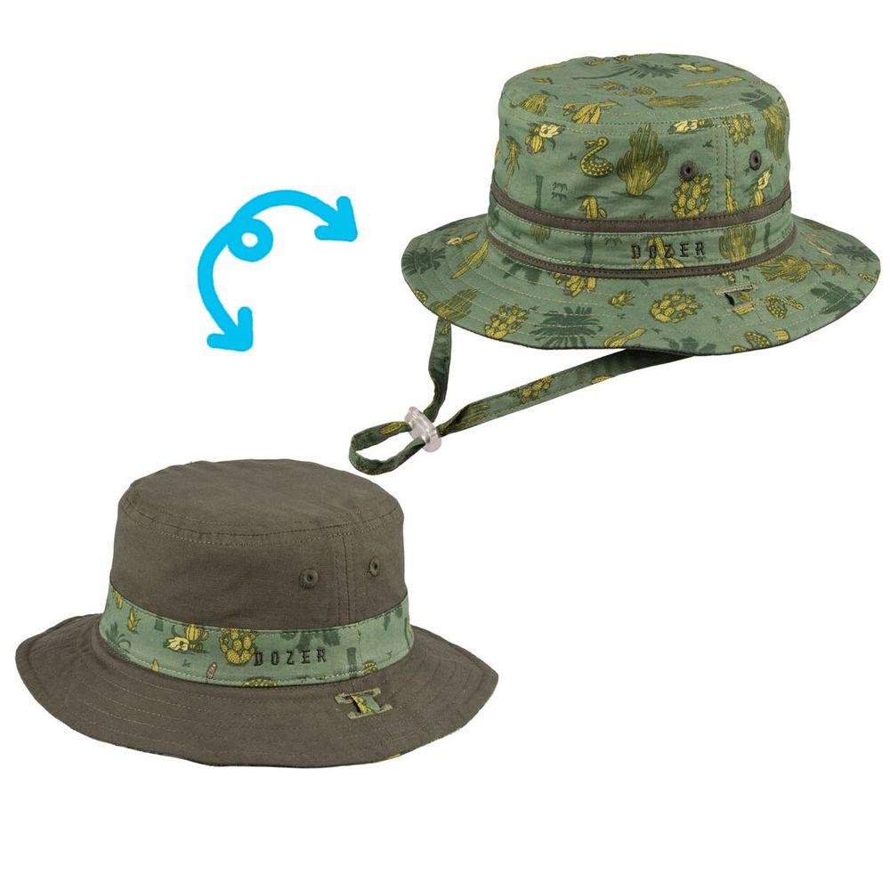 Millymook & Dozer - 綠意仙人掌雙面漁夫帽 (L:頭圍48cm(6-18M))
